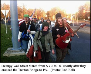 Occupy march on the way from New York to DC