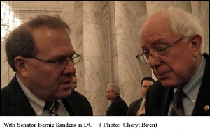 Rob Kall with Bernie Sanders in DC