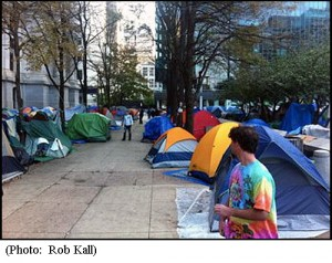 Tent camp at Occupy