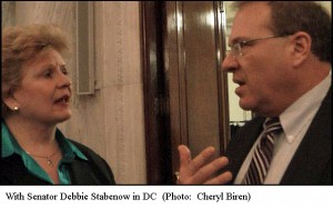 Rob Kall with Senator Debbie Stabenow in DC