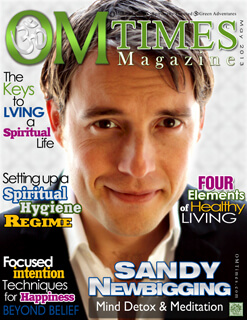 OMTimes May C 2013 Edition cover with Sandy Newbigging